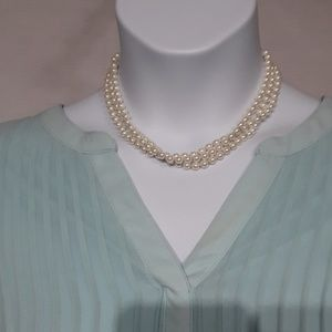 Charter Club 3 Strand of Pearls 16 inches